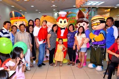April. Air Crinkle celebrated her first birthday here in the Philippines. Oh the mascots!