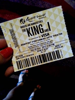 December. For the wanna be artist, The King and I is a must watch.