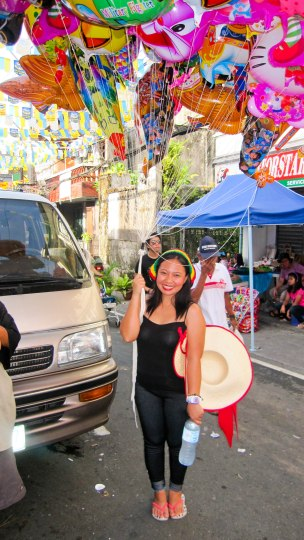 May. Pahiyas Festival, I just have to borrow this from the man selling them.