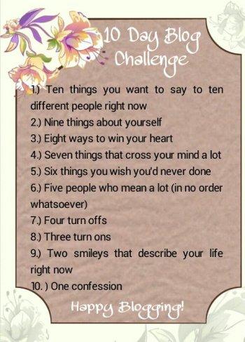 blog challenge