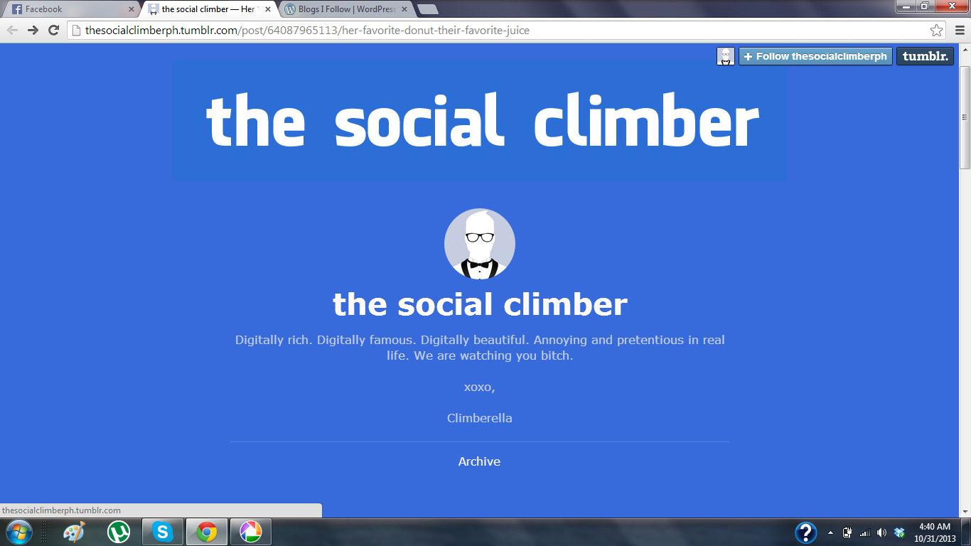 Dating a social climber